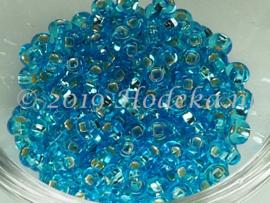 CRP06/60a  50 gram Preciosa Rocailles 6/0  Licht Blauw silverlined
