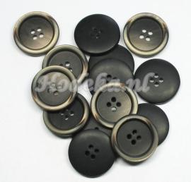 KNO32a  5 x  Prachtige bruine knoop ca. 23 mm