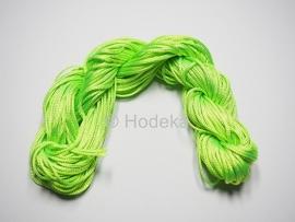NLD37  Nylonkoord 2mm Licht Groen  ca. 10 meter