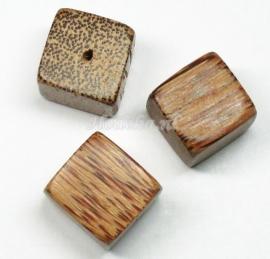 HKP10  2  x  Donker Palm houten kraal  ca. 20 mm