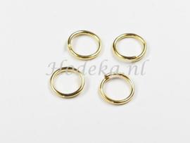 BHR28  30 ringetjes 9mm Goudkleur