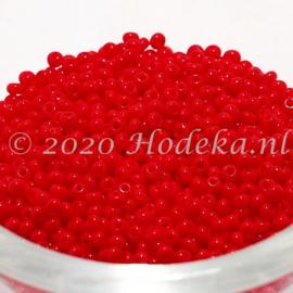 CRP11/83a  50 gram Preciosa Rocailles 11/0 Tomaten rood