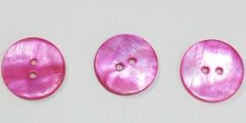 KNO29a 5 x Knal Roze  Schelp knoop ca. 20mm