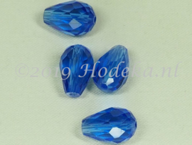 FCT15/17  5 x Facet glaskraal Blauw 15 x 10mm