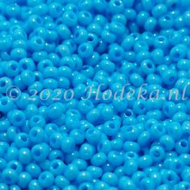 CRP11/79a  50 gram Preciosa Rocailles 11/0 Aqua blauw
