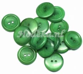 KNO54  1 x  Gemêleerde groene knoop ca. 20mm