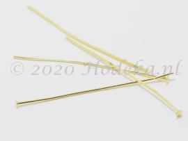 BNK12  30 x Nietpen Goud 50mm