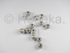 MIR08/01  12 X miracle beads Wit  ca. 8mm