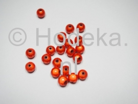 MIR08/02  12 X miracle beads Oranje  ca. 8mm