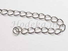 KBH05  10 cm ketting Antiek zilver ca. 8 x 6 mm