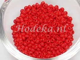 CRP08/51a  50 gram Preciosa Rocailles 8/0 Rood