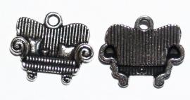 BDM40  1 x Bedel Bank Antiek Zilver 16 x 14 mm