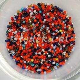 CRP15/35  12 gram Preciosa Rocailles 15/0  Kleuren Mix