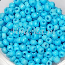 CNR06/10   Rocailles 50 gr.  Licht blauw 6/0