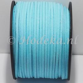 BSV56  1 meter imitatie Suede Licht Blauw 3mm