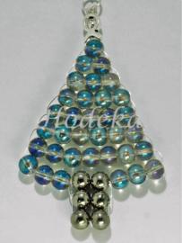 "KBP09 Hanger kerstboom ""Blauw Parelmoer"""