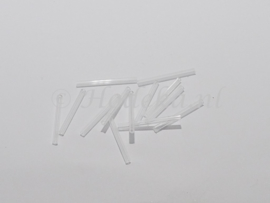 PRS18 Preciosa Bugle Staaf Transparant recht 30 mm 10 gr.