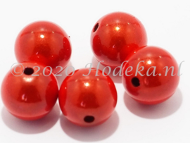 MIR12/05  6 X miracle beads Oranje 12mm