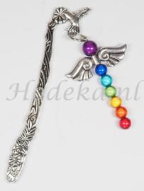 BLK01 Boekenleggerpakket  Chakra kralen Kolibrie boekenlegger