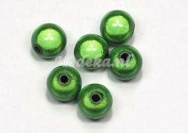 MIR10/08  8 X miracle beads Groen 10mm