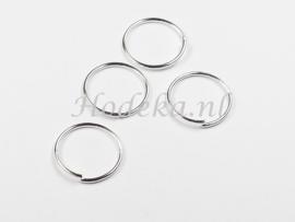 BHR31  30 x Flexibel ringetje 15mm Zilverkleur