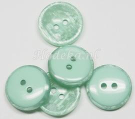 KNO107  1 x Glanzende Groene knoop ca. 20 mm