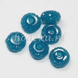 RBS05  6 x Rain bead Blauw 5x8mm