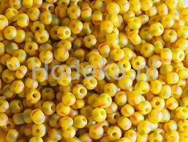 CRP10/27  12 gram Preciosa Rocailles 10/0 Geel gevlekt