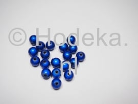 MIR08/05  12 X miracle beads Donker blauw  ca. 8mm