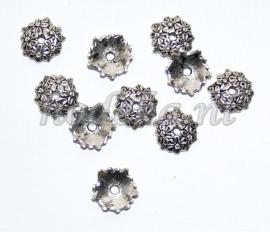 BKK06a  40  x  Metalen Kralenkapjes ca.12mm