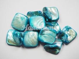 SCH13   1 x Schelp Blauw met een Prachtige glans