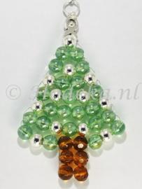 """KBP02 Hanger kerstboom """"Licht Groen & Zilver"""""""