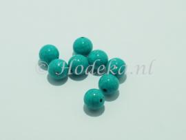 ACP12/11   8 x acryl Kraal rond 11mm Imitatie Turquoise