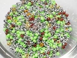 CRP11/31  12 gram Preciosa Rocailles mix 11/0 & 10/0 Kleurenmix