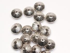 MLK26  10 x metalook kraal Rondel 6 x 12 mm