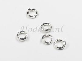 BHR20  40 ringetjes 6 x 1.2mm Zilver