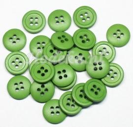 KNO53   1 x Groene knoop ca. 13.5 x 2.5 mm