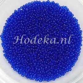CRP15/26a  50 gram Preciosa Rocailles 15/0 Donker Blauw Transparant