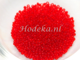 CRP15/14  12 gram Preciosa Rocailles 15/0 Rood Transparant