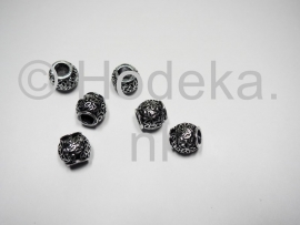 PDM20 1 x pandora style metalen kraal Tonnetje 10mm