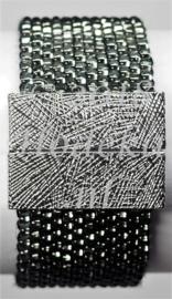 PPT03   1 x Precious armband pakket Antraciet silverlined