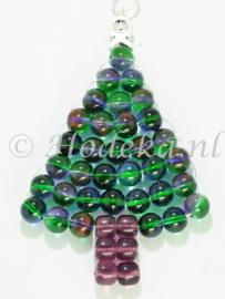 """KBP10 Hanger kerstboom """"Groen en paars"""""""