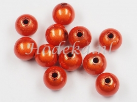 MIR08/19 12 X miracle beads Warm Oranje ca. 8mm