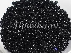 CRP10/01  12 gram Preciosa Rocailles 10/0 Zwart