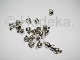 BKK14   8 x  Metalen Eindkapjes om vast te Lijmen ca. 11 x 7 mm