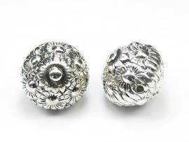 MLK02a 10 x Rondel 24mm  antiek zilver
