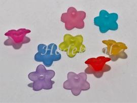 BVE118   50 x Bloem kleuren Mix 9.5 x 4.5mm