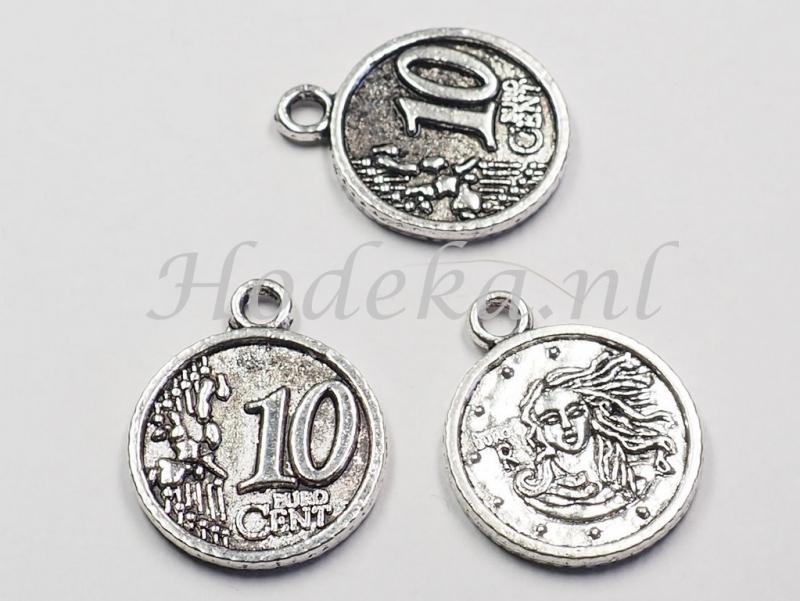 BDM52a  5 x bedel Munt van 10 euro cent 19mm