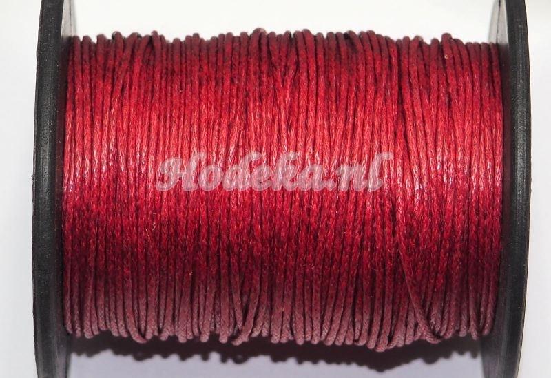 KAD21  katoendraad rood/bruin per meter