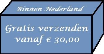 Binnen nederland gratis verzenden vanaf € 30,00